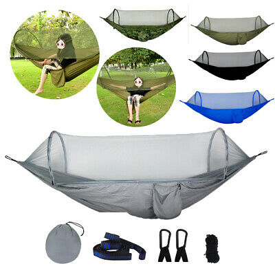 Camping Hammock with Mosquito Bug Netting Tent Hanging Swing Outdoor Travel Bed