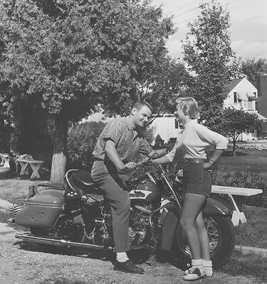 Harley-Davidson Duo Glide 1956 - FL - FLH - motorcycle photo PHOTOGRAPH