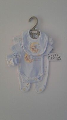Premature tiny baby boys clothes sweet dreams four piece set 3-5lbs 5-8 lbs
