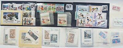 COLLECTION OF ALBANIA STAMPS many sets