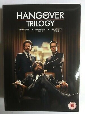The Hangover Trilogy (DVD, 2013, 3-Disc Set, Box Set)  VG  CC7