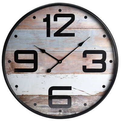 Large Ø 68 cm Wooden Wall Clock Decorative Arabic Numerals 12 Hour Display