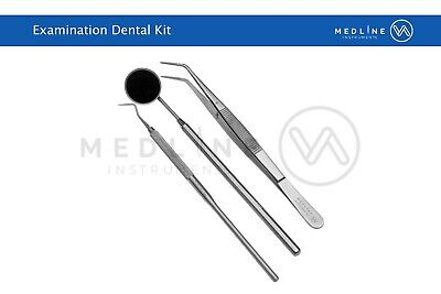 Dental Examination Hygiene Cleaning kit Explorer 9 with London College Tweezer