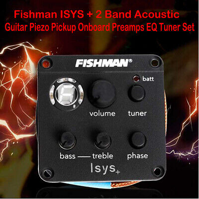Fishman ISYS + 2 Band Acoustic Guitar Piezo Pickup Onboard Preamps EQ