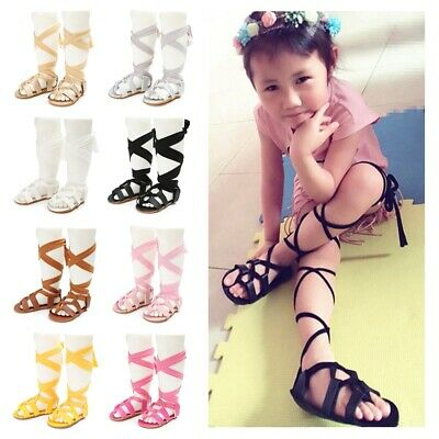 Baby Girls Leather Colorful Long Lace