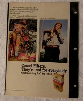 Camel  Vintage Magazine Ad '71 - Emile impressed the crowd by hand-painting cig