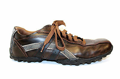 e7aaf3796a431 SKECHERS Fashion Sneakers Leather Lace-Up Shoes Brown Bronze Womens Sz 8.5