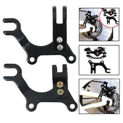 Adjustable black bicycle bike disc brake bracket frame adaptor mounting holderA!