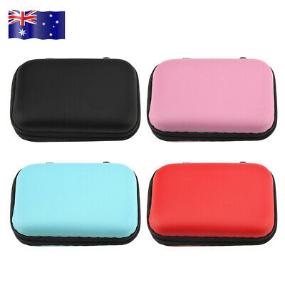 New Portable Carrying Headphone Earbud Pouch Earphone Storage Case Bag AU