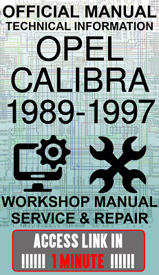 OPEL CALIBRA.Workshop manual.Manuale Officina Opel Calibra 1989//1997