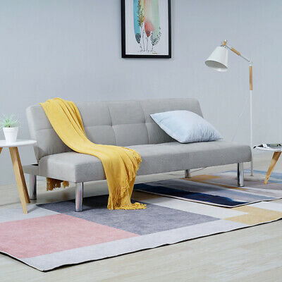 Luxury 3 Seater Faux Suede Canterbury Fabric Settee Sofabed Click-Clack Sofa Bed