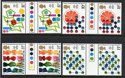 GB 1977 Chemistry traffic light gutter pairs MNH Unfolded stamps unmounted mint