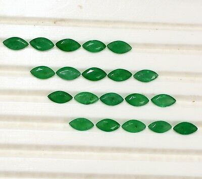 Natural Emerald Marquise Cut 6x3 mm Lot 34 Pcs 7.72 Cts Untreated Loose Gemstone