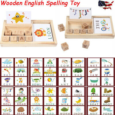 WOODEN ENGLISH SPELLING Alphabet Letter Game Early Learning ...
