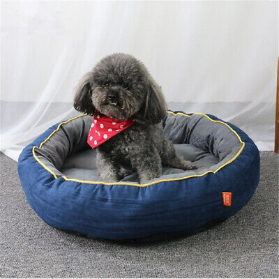 Self-Warming Cat and Dog Bed Cushion for Medium large Dogs Suede Fabric Blue Bro