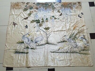 Antique Chinese Hand Embroidery Wall Hanging Panel 133X110cm (Y144)