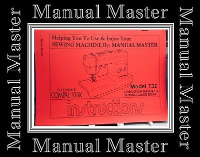 Jones Brother 732 Compal Star Sewing Machine Instructions manual Booklet