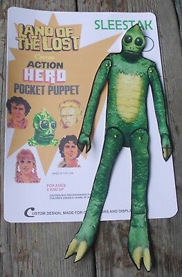 Land of the Lost Sleestak pocket puppet wall hang custom creation