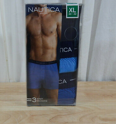 NWT Men's Nautica Modal Knit Boxers 2 Pair-READ