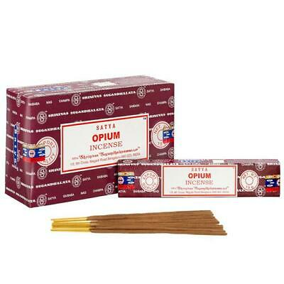 Satya Genuine Opium Perfumed Incense Aggarbatti Sticks Hand Made In India