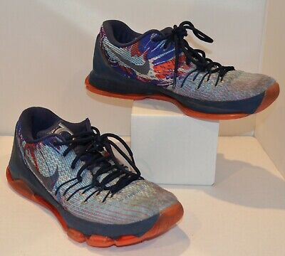 new style 9e6ac a9a0a NIKE KD 8 USA Independence Day Men's Basketball Shoes 749375-446 Size 9.5