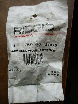RIDGID 31675 Pipe Wrench Heel Jaw w/ Pin Assembly, 18-inch Replacement Pipe Jaws