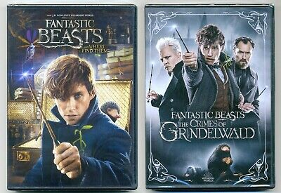 Fantastic Beasts 1&2 The Crimes of Grindelwald PG-13 fantasy movies, new DVD lot
