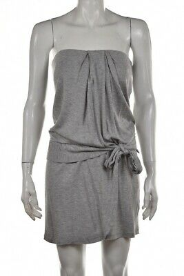 Haute Hippie Nude Dress Size S Gray Speckled Sheath Strapless Above Knee