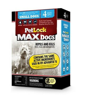 $9.99 Ea PetLock Max SmDogs 5-10Lbs 4month Supply FREE SHIPPING
