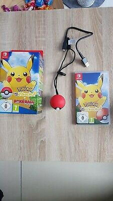 Ninzendo Switch Pokemon lets go pikachu + Pokeball Plus