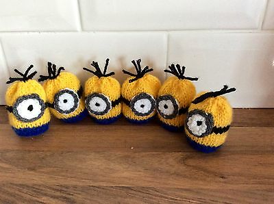 Easter Knitted Minions Creme Egg Covers X 30