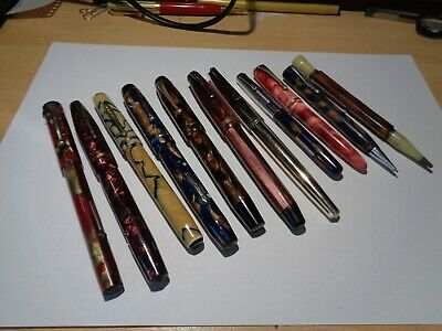 lot of vintage fountain pens