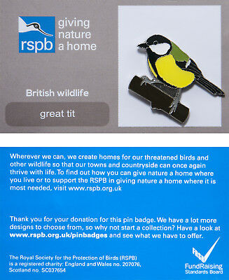 RSPB Pin Badge | Great Tit | RSPB GNaH [01220]