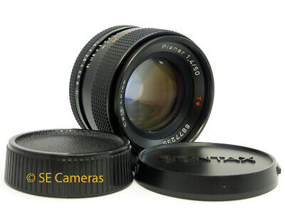 Carl Zeiss Planar T* 50Mm F1.4 Fast Prime Lens Contax Yashica Fit *Near Mint*