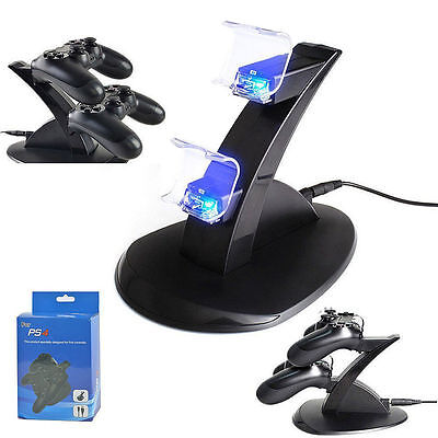 PlayStation PS4 Dual Controller LED Charger Dock Station USB Fast Charging AH