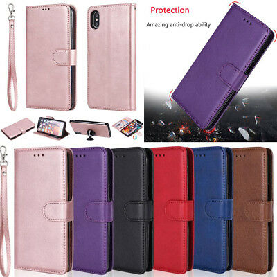New Magnetic Detachable PU Leather Wallet Case Cover For Various Mobile Phone