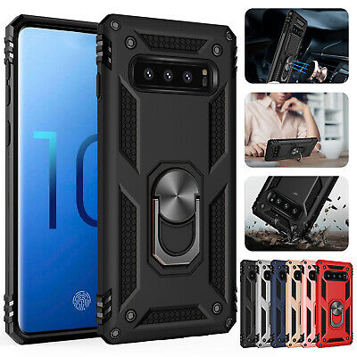 For Samsung Galaxy J4+ J6 Plus Heavy Duty Hybrid Magnetic Stand Back Cover Case