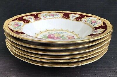 Royal Albert - Lady Hamilton - 6 x Wide Rimmed Bowls - 2nd Quality
