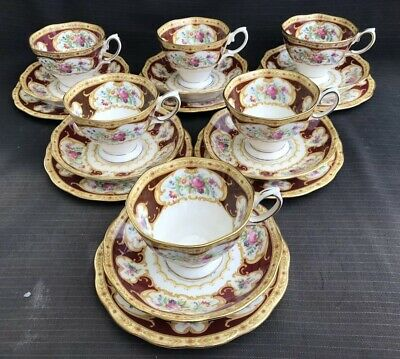 Royal Albert 'Lady Hamilton' - 6 x Tea Trios - Tea Cups - 2nd Quality