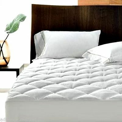 "Extra Deep Quilted Mattress Protector 12"" Fitted Bed Cover:all Sizes"
