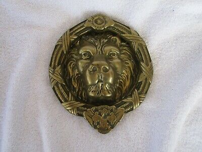 ANTIQUE~SOLID BRASS Lion's Head Door Knocker ~[Solid and Heavy ~HIGH QUALITY!]!!