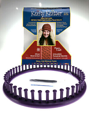 """NEW Provo Craft Knifty Knitter Adult Hat Loom 10.25""""/26cm"""