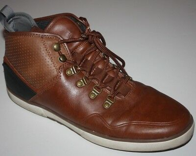 e5db1f1c1d68 ALDO LACE UP Ankle Boots Mens Sz 10 M Tan Leather Flannel Lined Water  Resistant