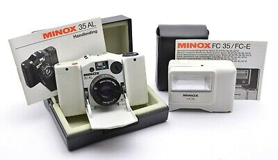 MINOX 35 AL Kompaktkamera Weiß White Camera, Color-Minar 4 / 35 mm Lens Box m53