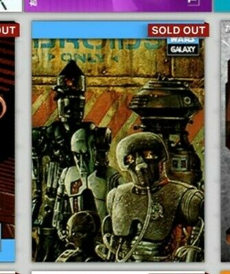 Topps Star Wars Card Trader Galaxy Selects Droids Only Digital Insert