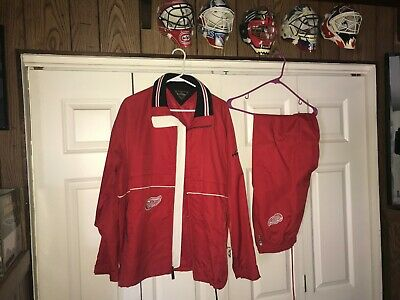 Detroit Red Wing's Coaches Practice Work-Out Sweat's, Size L