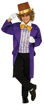 Willy Wonka Child Costume Charlie And The Chocolate Factory