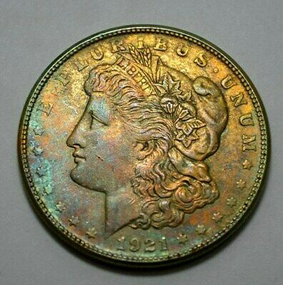 1921-S Morgan Dollar  BETTER DATE, TONED, US Silver Coin, $1.00 , No Reserve..!