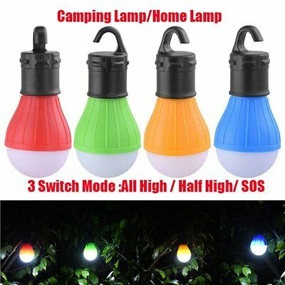 Hanging LED Camping Tent Light Bulb Fishing Lantern Lamp Outdoor 4 Colors @W