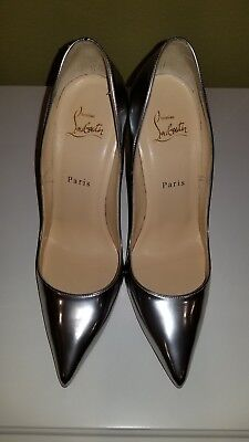 0bff700ea9d Ultra sexy CHRISTIAN LOUBOUTIN So Kate 120 Silver Mirrored Leather Heels  38.5